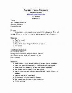 Math Venn Diagram Worksheet