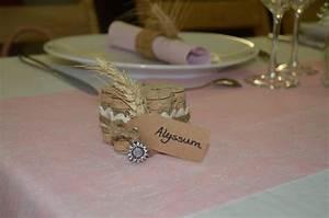 Nom De Table Mariage Champetre : porte nom table mariage champ tre photo de mariage champetre art 39 philis ~ Melissatoandfro.com Idées de Décoration