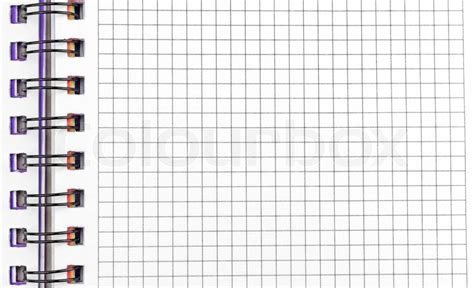home design graph paper open notebook with pages in a grid with binding stock