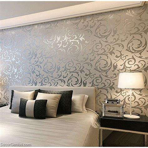 popular  design silver bedroom wallpaper modern style