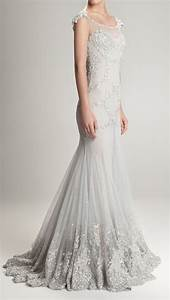 Silver grey wedding dresses pictures ideas guide to for Gray dresses for wedding