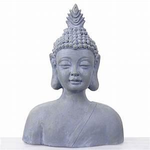 Buddha Figuren Deko : xxl deko figur buddha 60cm polyresin skulptur b ste in outdoor ~ Indierocktalk.com Haus und Dekorationen