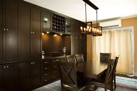 custom built  dining room wall unit