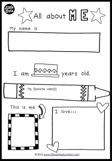 free all about me preschool theme printable for pre k or 412 | fcec20ed7e61ff51252a8213f1eddc4b