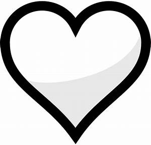 Heart Black And White Clipart - Clipart Suggest