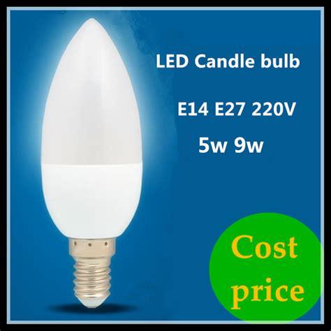 cost price led candle l e14 e27 5w 9w 220v spotlight