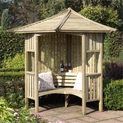 blooma  solway wooden corner arbour home delivered
