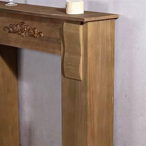 Kamin Attrappe Holz : kaminumrandung dekokamin attrappe aus holz ~ Michelbontemps.com Haus und Dekorationen