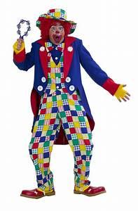 Kostümplanet® ClownKostüm Herren mit ClownMütze und