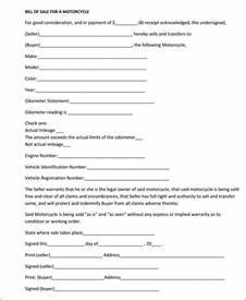 Free Massachusetts Motorcycle Bill of Sale Form - Download