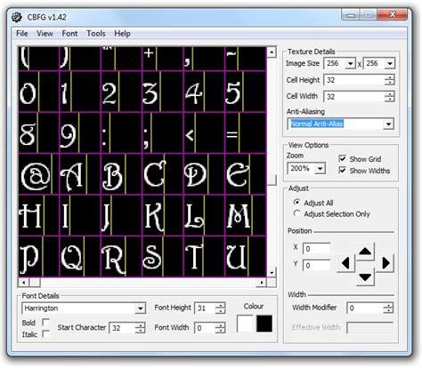 codehead s bitmap font generator