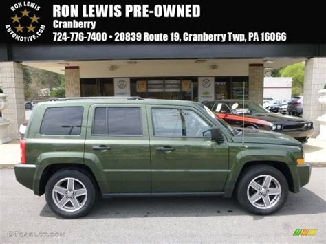 2007 jeep green metallic jeep patriot sport 4x4 112523264