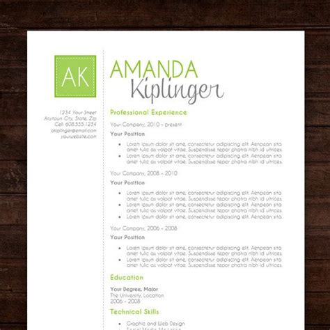 resume template design cover letter ms word instant