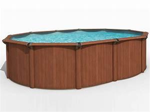 Piscine Acier Aspect Bois : piscine acier aspect bois bengalia en kit ovale 4 88 x ~ Dailycaller-alerts.com Idées de Décoration