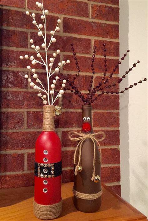 christmas wine bottle vases christmas wine bottles wine