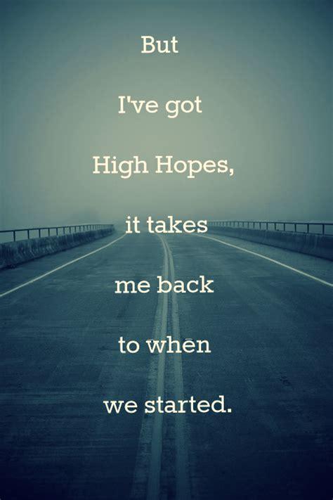 Kodaline High Hopes Lyrics Tumblr