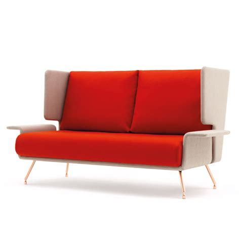 knoll a a two seat sofa with high back