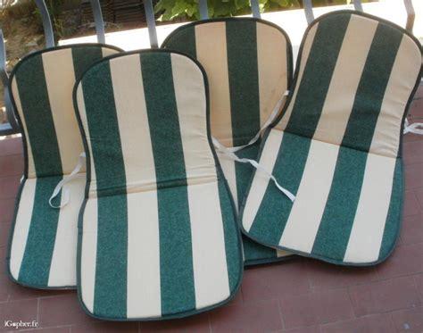coussins chaises de jardin 4 coussins pour chaises de jardin igopher fr
