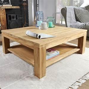 Table Basse En Bois : table basse en bois de teck 100 boston bois dessus bois dessous ~ Teatrodelosmanantiales.com Idées de Décoration