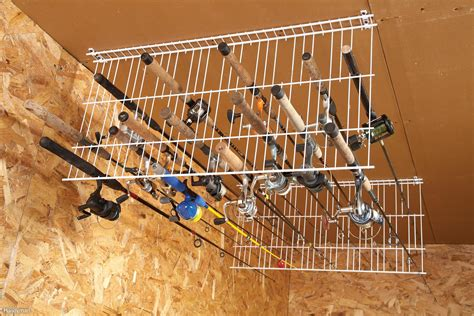 fishing pole storage rack sneak peek ingenious garage storage ideas diy advice