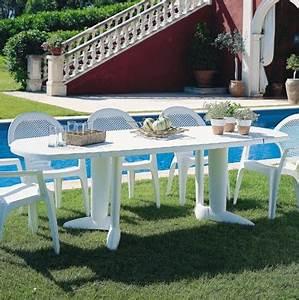 Table Plastique Jardin. table de jardin grise en plastique. ensemble ...