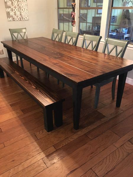 farmhouse tables  black legs images