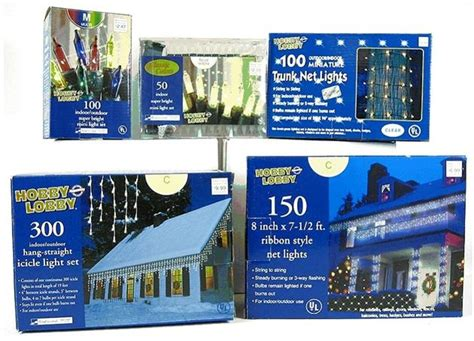 hobby lobby stores inc recalls light sets due