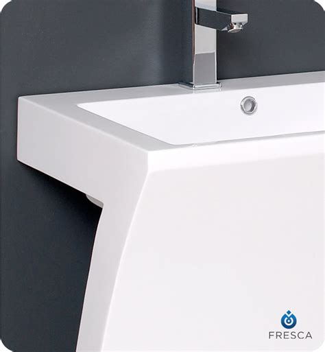 22 wide pedestal sink fresca fvn5024wh quadro 23 quot white pedestal sink with
