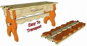 Knock-Down Gothic Bench #103 - 3D Woodworking Plans3D