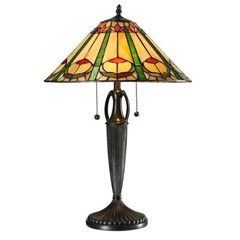 home depot tiffany ls dale tiffany quill 24 in tiffany 2 light antique bronze