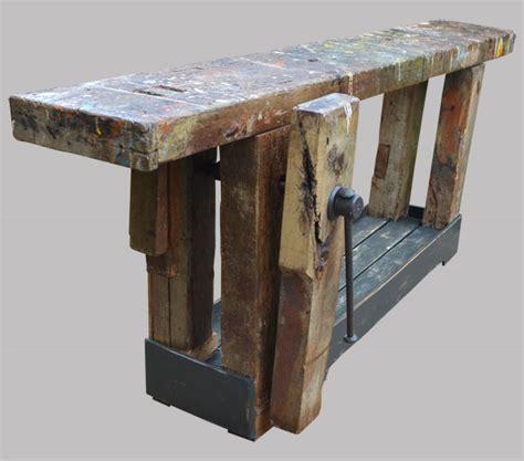 etabli bois ancien etabli ancien de menuisier en bois massif avec 233 tau et vis de serrage