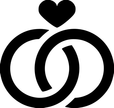 wedding rings svg png icon free 574178 onlinewebfonts