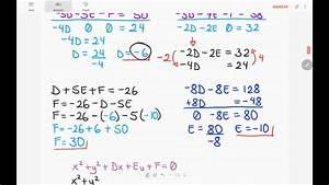 Ecuaci U00f3n De La Circunferencia Que Pasa Por 3 Puntos