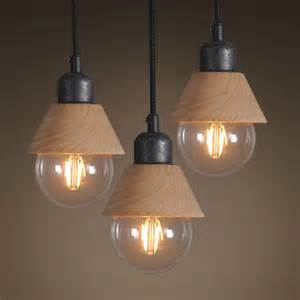 industrial mini wood iron pendant light hanging l