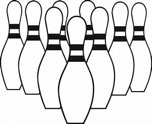 Bowling clipart black and white - Pencil and in color ...