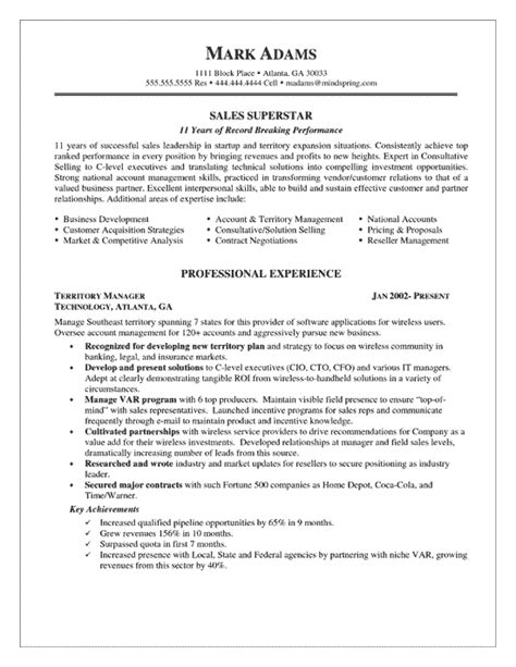 Sales Resume Profile by Sales Account Manager Resume Exle