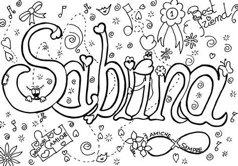 immagini migliori amiche da disegnare colora il tuo nome sabrina 1 mondofantastico