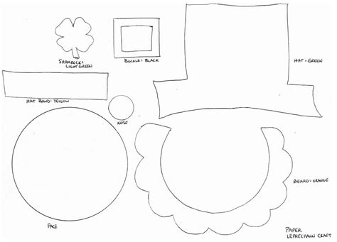 leprechaun hat template the everyday of a and march 2011