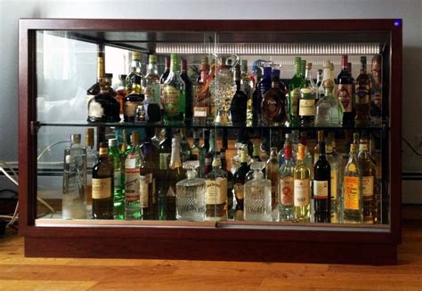Liquor Cabinets With Glass Door — Colour Story Design