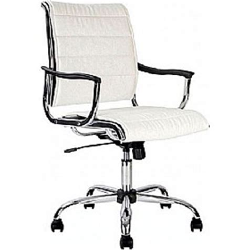 polar white leather look swivel chair cheap polar white