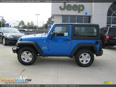 jeep blue and black 2011 jeep wrangler sport s 4x4 cosmos blue black photo
