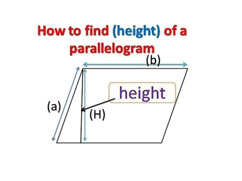 How To Find A by How To Find The Height Of A Parallelogram