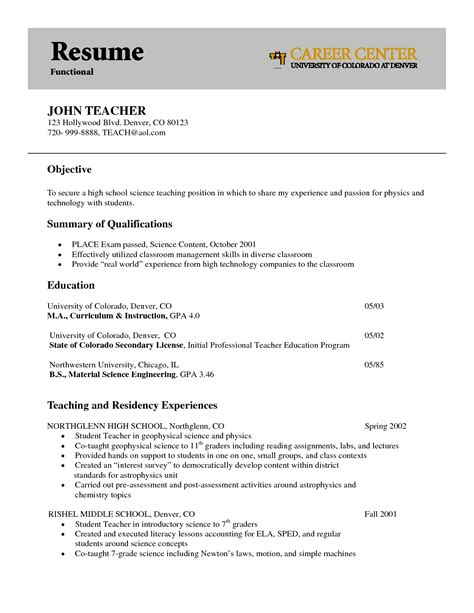 interesting functional resume exle with and