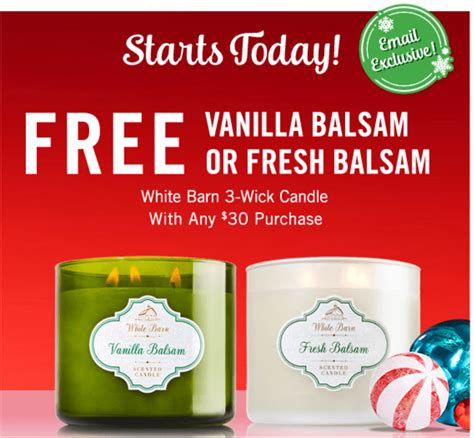 White Barn Candle Coupons by Bath Works Canada Coupon Free Vanilla
