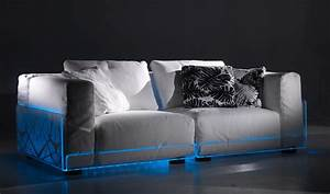 Couch Led : versatile sofa with built in mood led lights asami light ~ Pilothousefishingboats.com Haus und Dekorationen