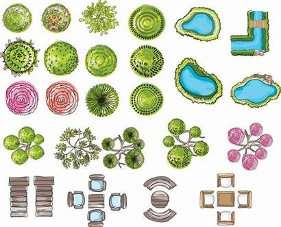 Vector Landscape Symbols Tree Architectural Map Landscaped