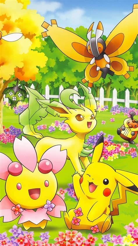 cute pokemon  iphone  wallpaper  colorful natures