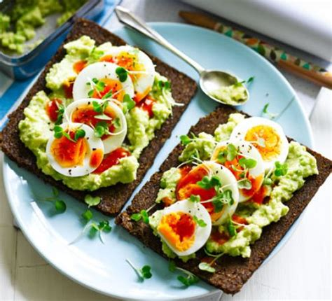 egg avocado open sandwich recipe bbc good food