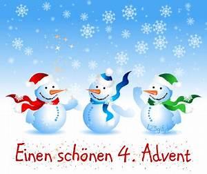 Schöne Weihnachten Grüße : 4 advent bild schneemaenner kostenlos auf deiner ~ Haus.voiturepedia.club Haus und Dekorationen
