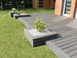 amenagement jardin modification terrasse terrasse en With idee amenagement terrasse bois